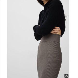 Aritzia Wilfred Free Josephine Midi skirt.